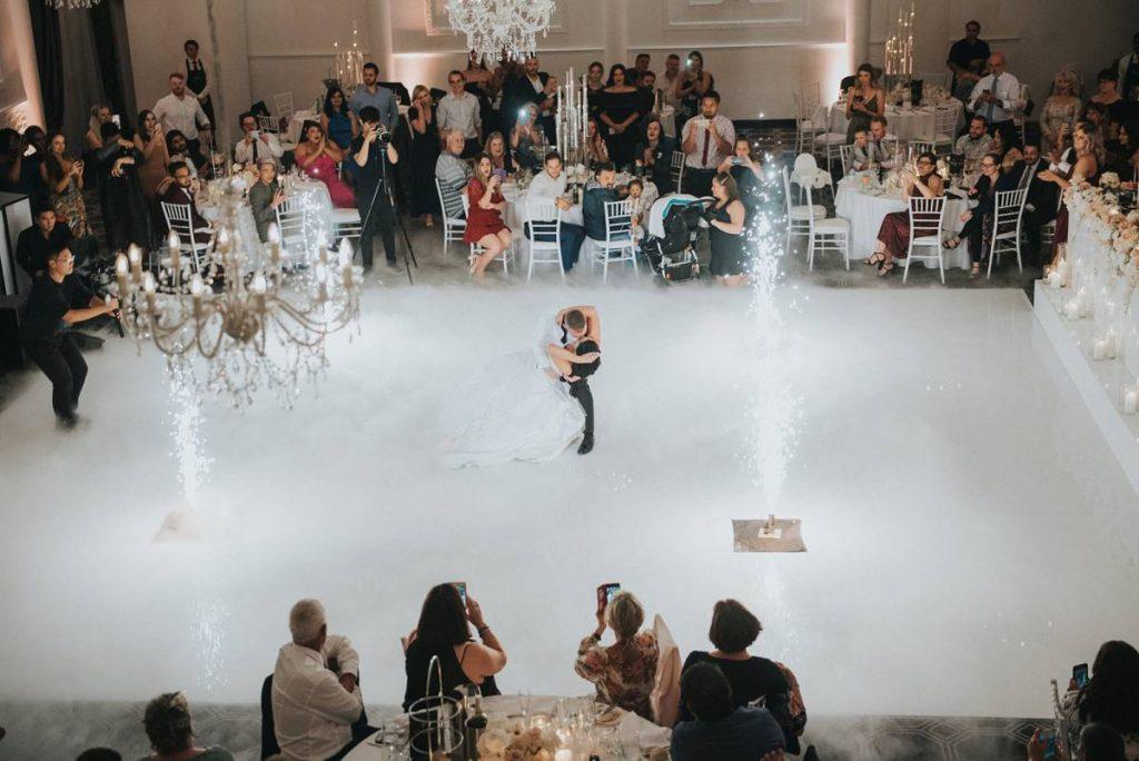 married couple on ballromm dance floor