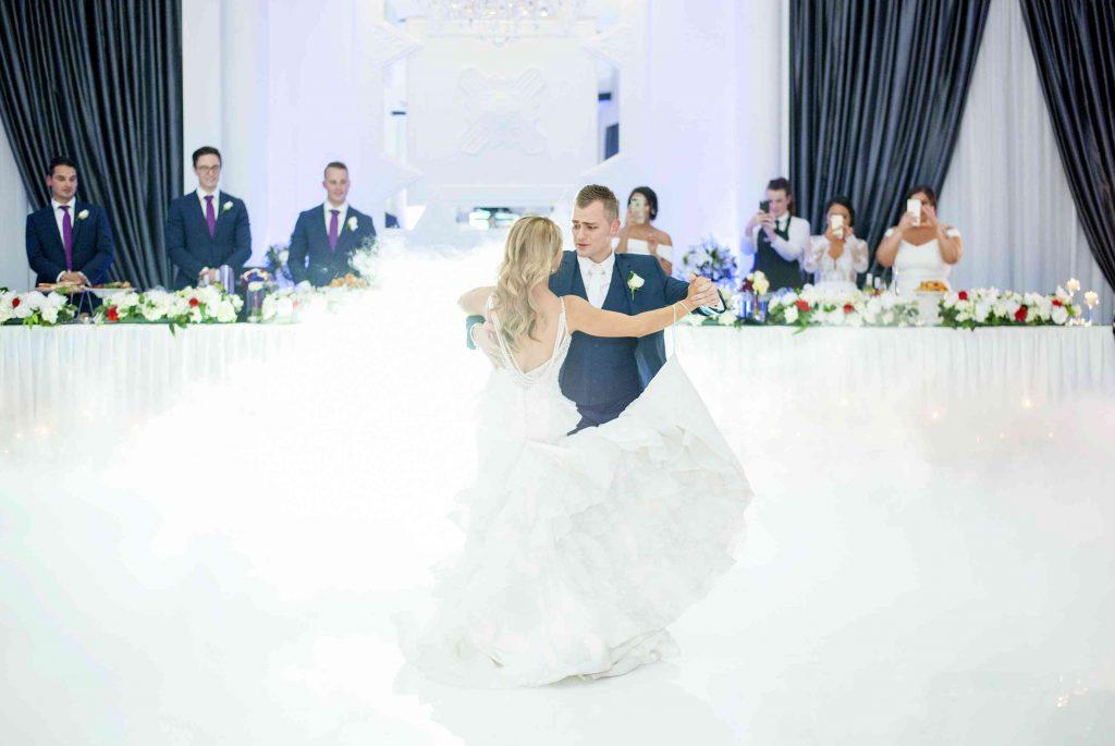 cute couple dancing majestically