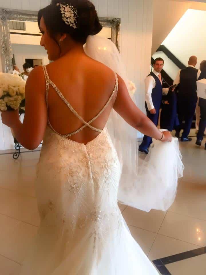 vogue ballroom foyer with bride