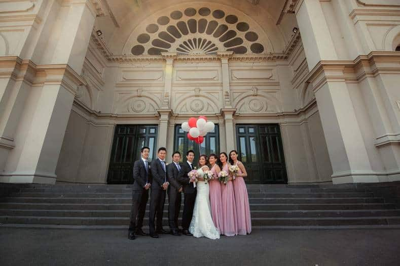 bridesmaid and best men photo