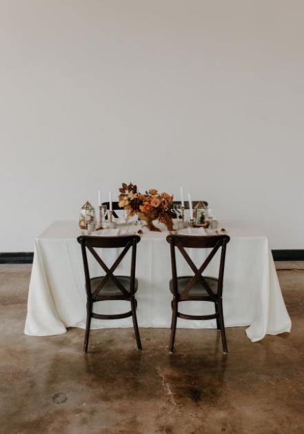 table set up boho weddings
