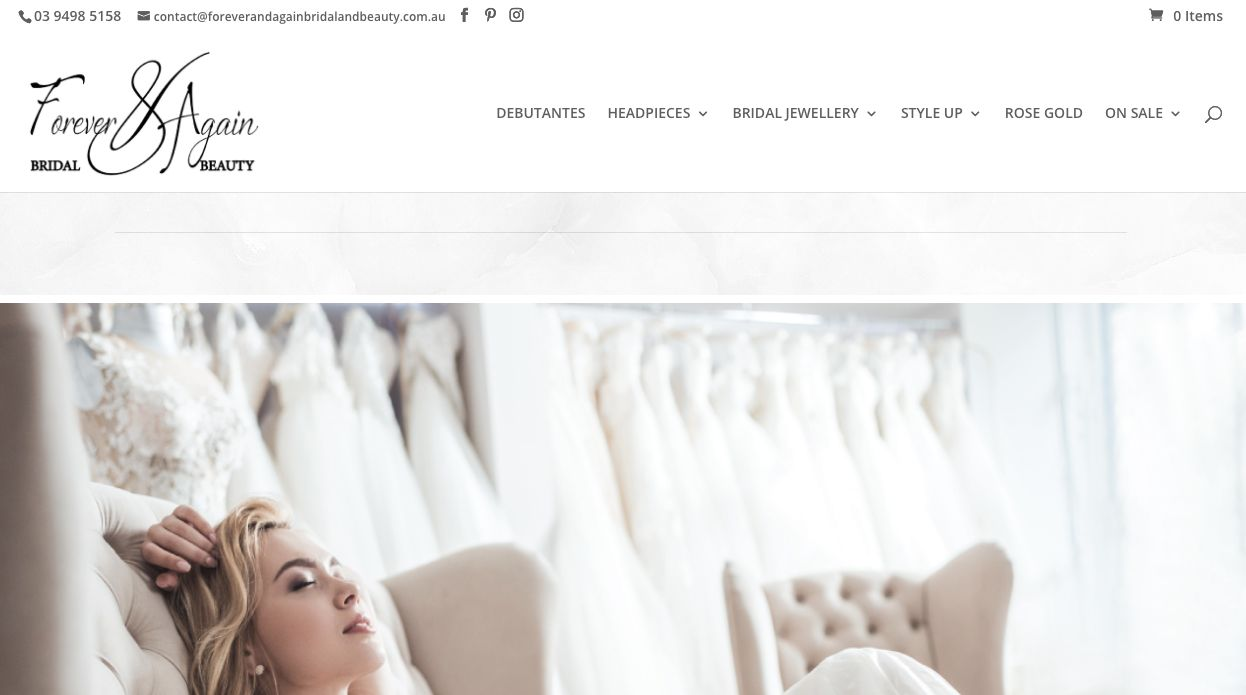 bridal jewellery and accessories Melbourne