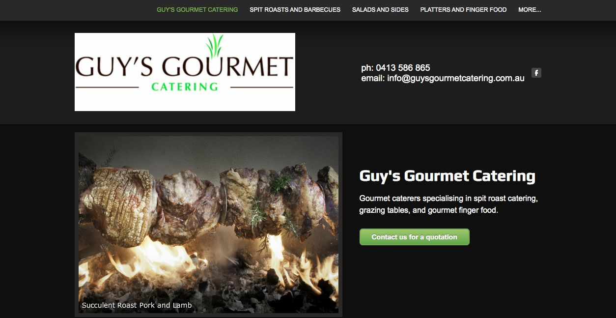 gourmet quality foods Melbourne weddings