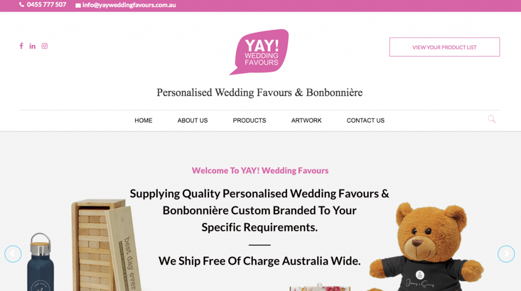 Bomboniere Melbourne Wedding