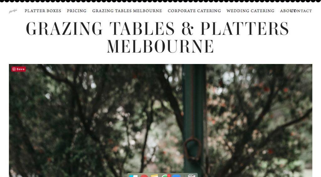 Plentiful Catering Glazing Table Melbourne