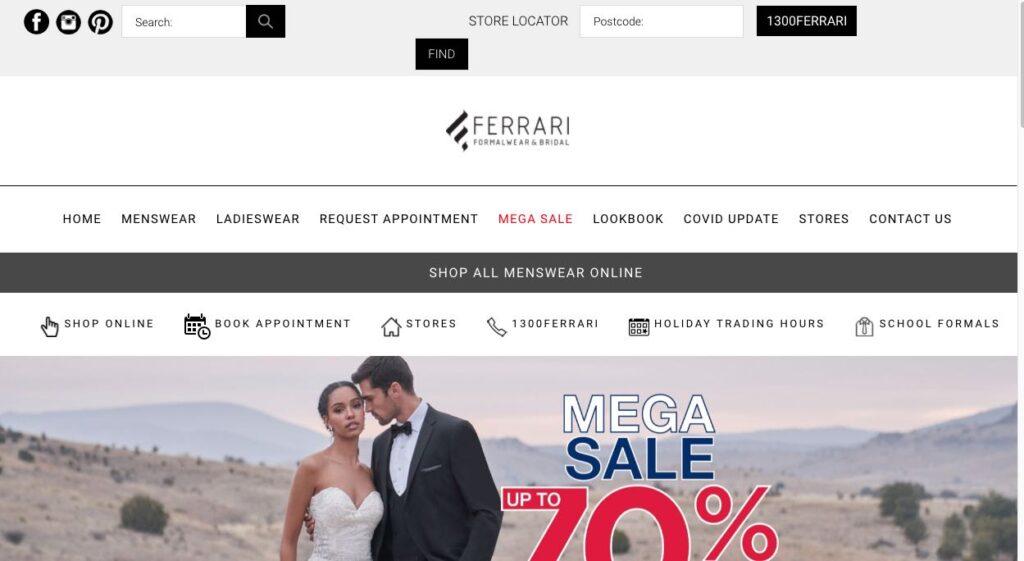 Ferrari Formalwear Suit Tailors Melbourne