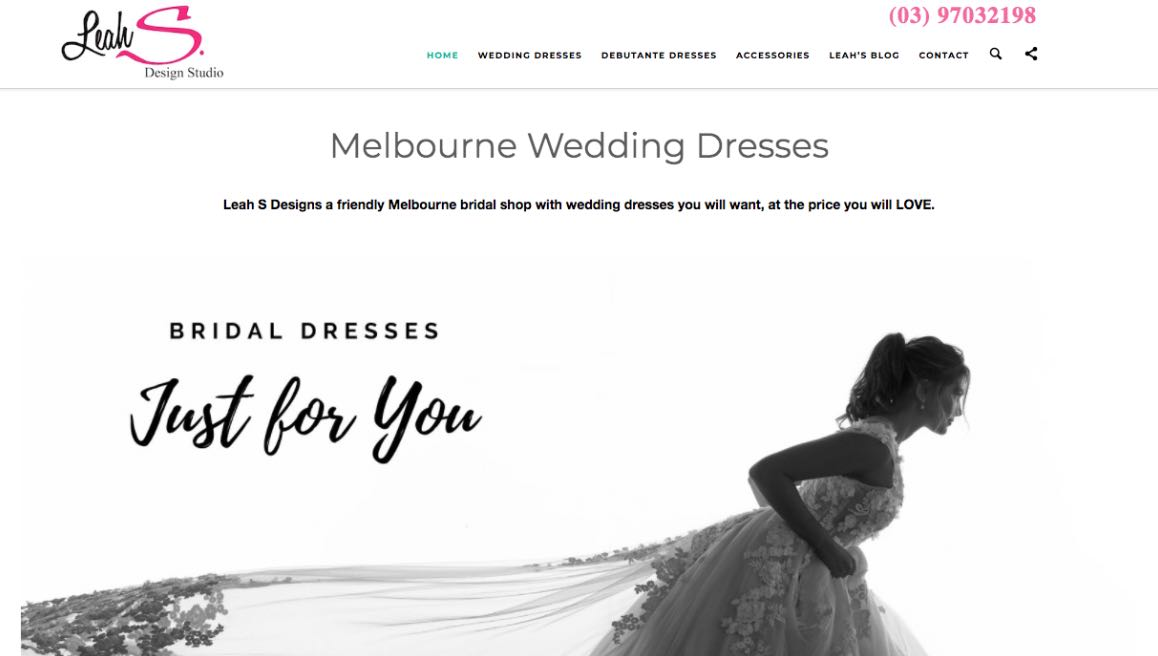 Leah S Designer Couture Wedding Dress Melbourne