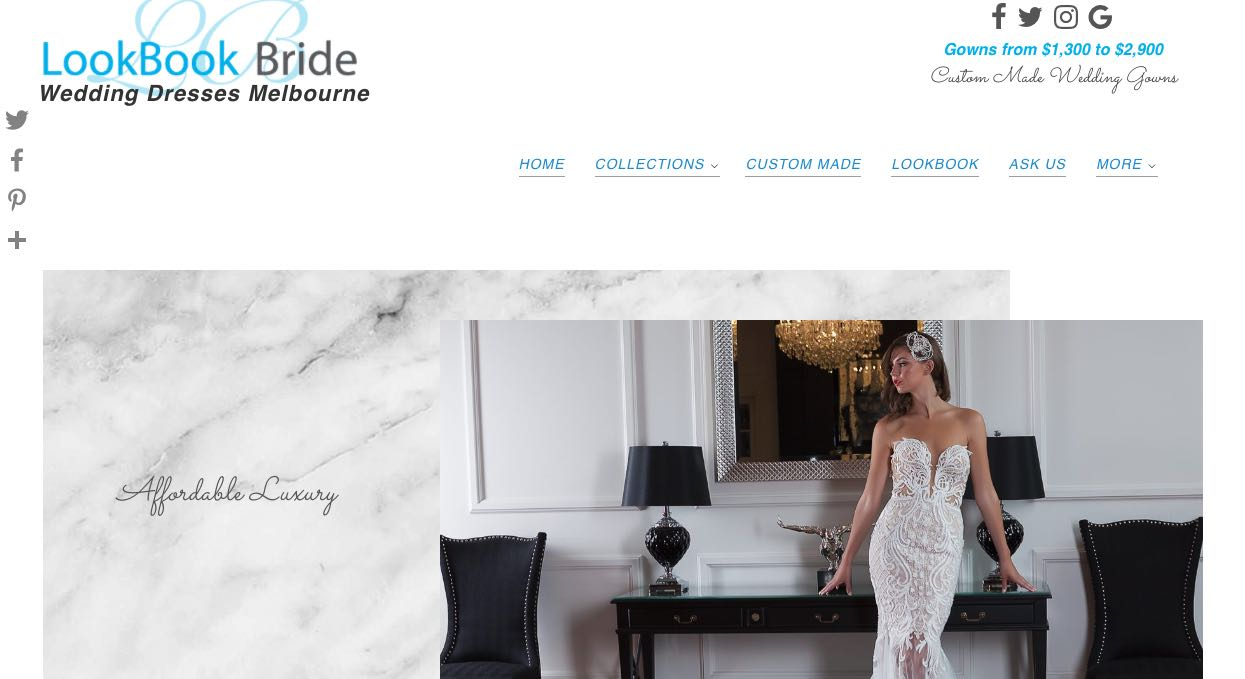 Lookbook bride -couture wedding dress maker melbourne