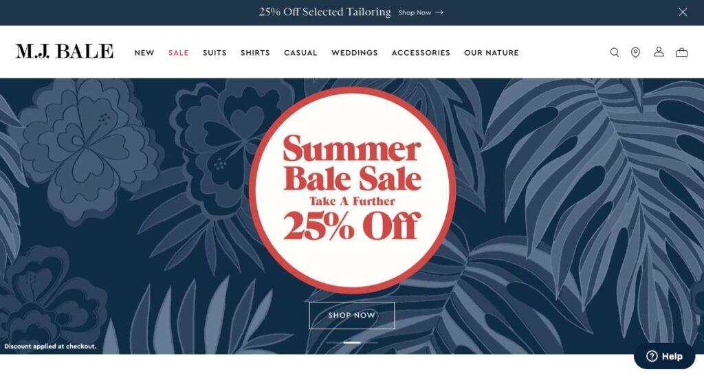 MJ Bale Suit Tailors Melbourne