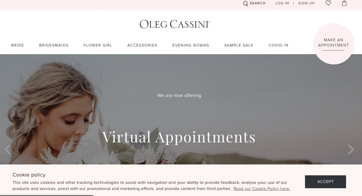 Oleg Cassini Couture Wedding Dress Maker Melbourne