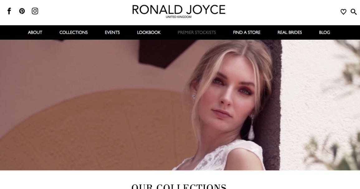 Ronald Joyce Couture Wedding Dress Maker Melbourne