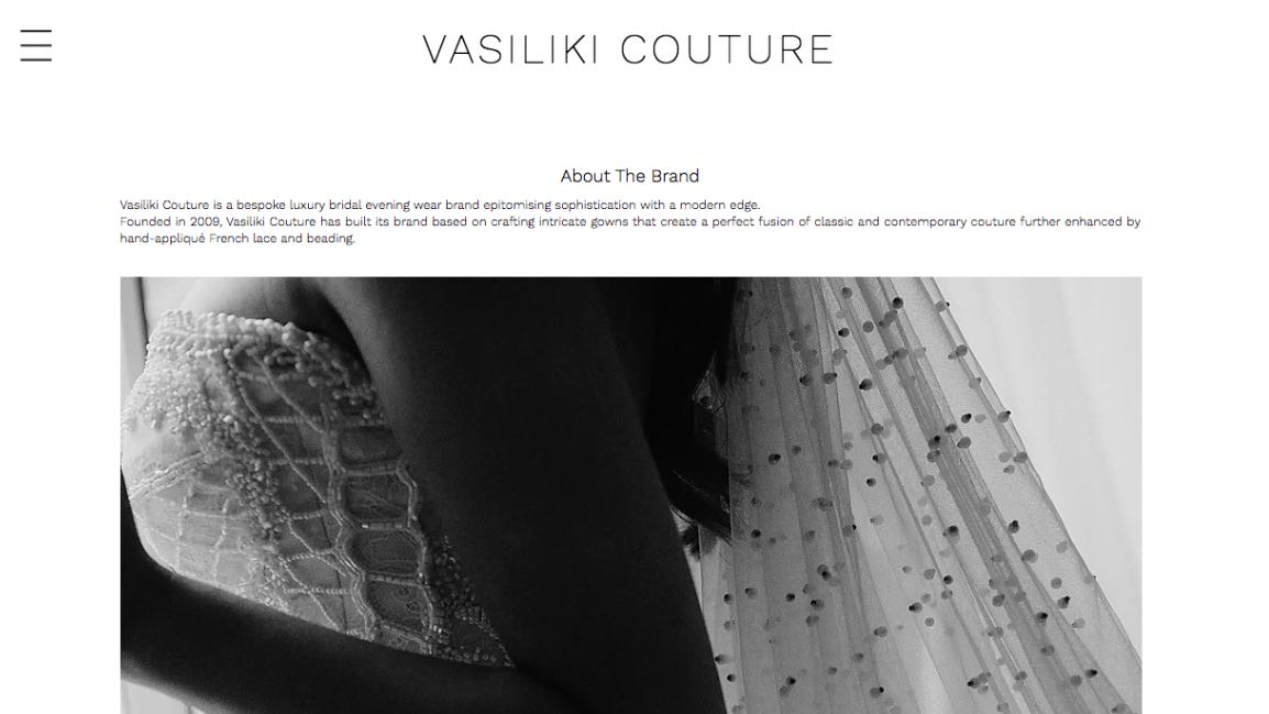Vasiliki Couture Wedding Dress Maker Melbourne