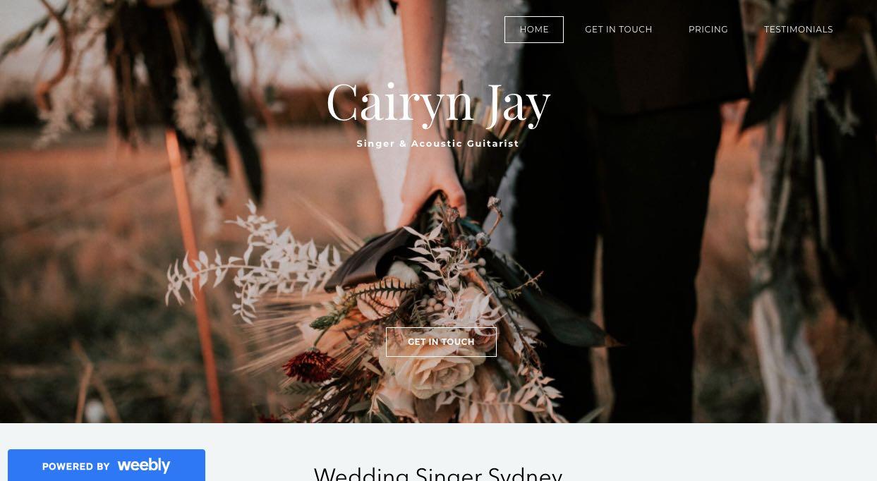 Cairyn Jay Wedding Singers & Bands Sydney