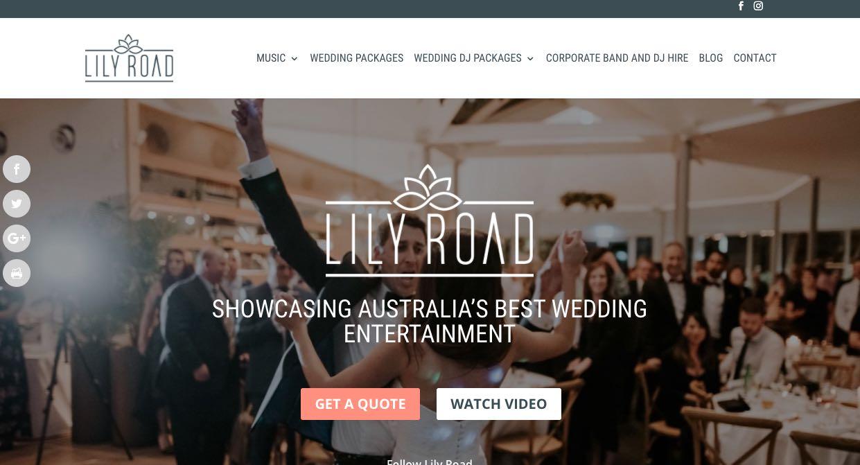 Lily Road Wedding Band Sydney