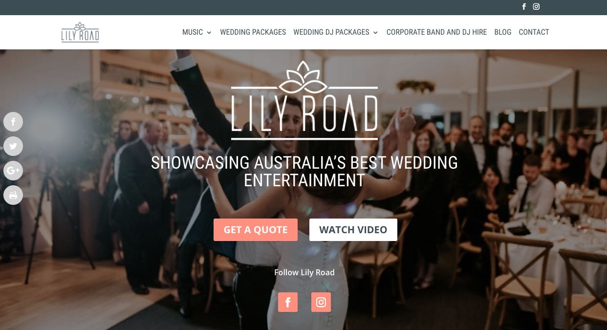 Lily Road Wedding DJ Sydney