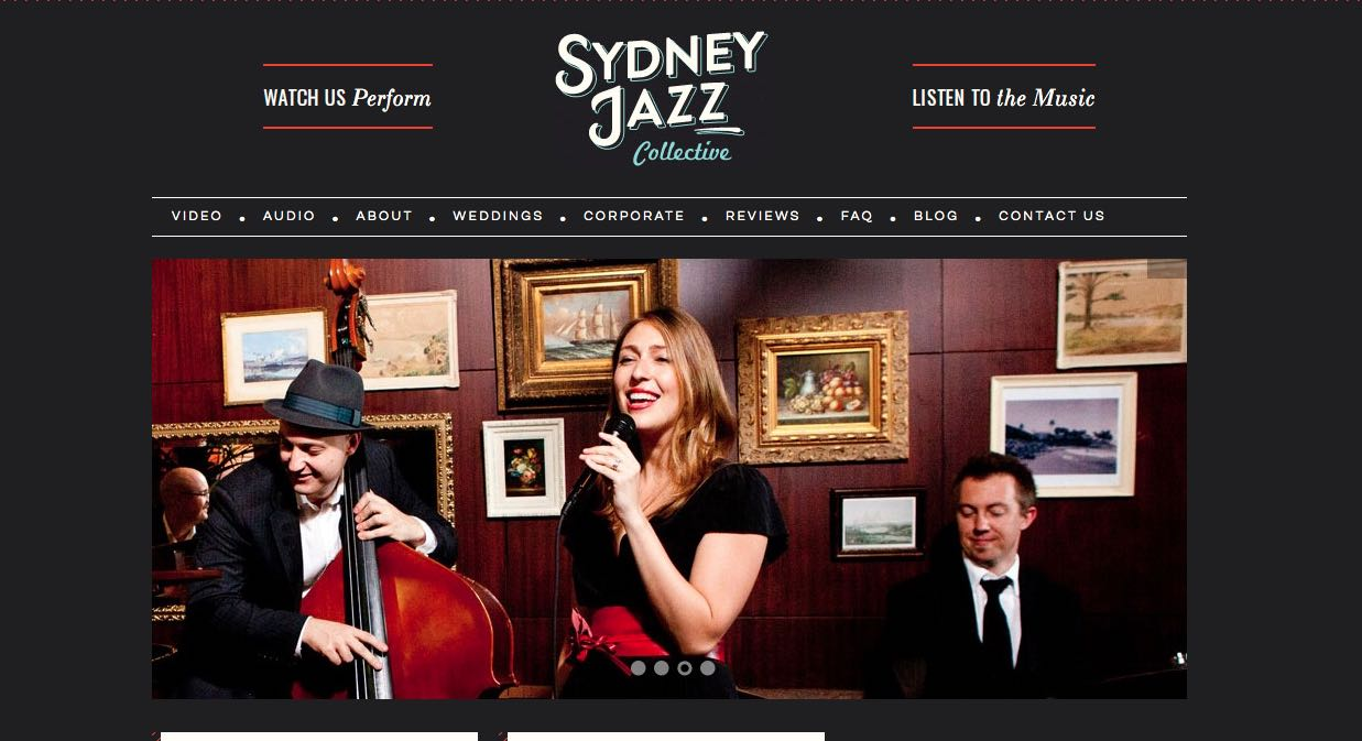Sydney Jazz Collective - Wedding Singers & Bands Sydney
