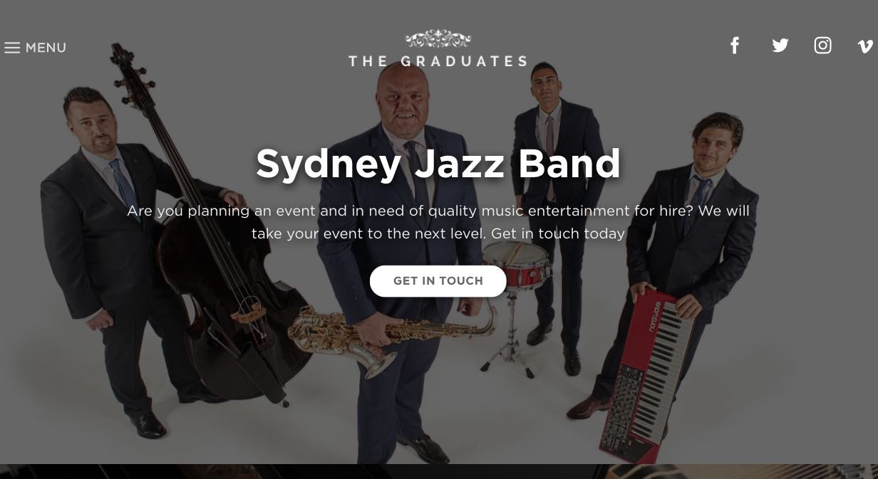 The Graduates Music - Wedding Singers & Bands Sydney