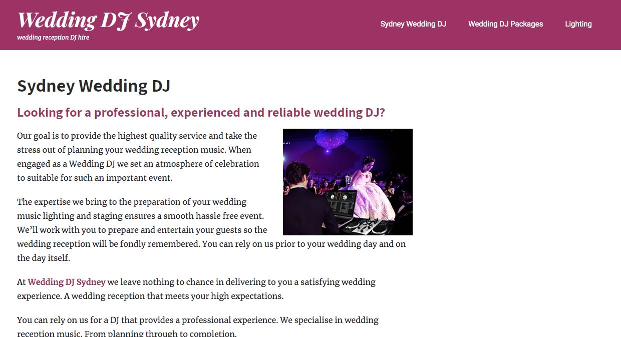 Wedding DJ Sydney - Wedding DJ Sydney