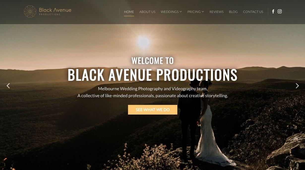 Black Avenue Wedding Videographer Mornington Peninsula