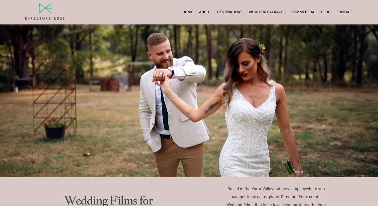 Director's Edge Wedding Videographer in Yarra Valley