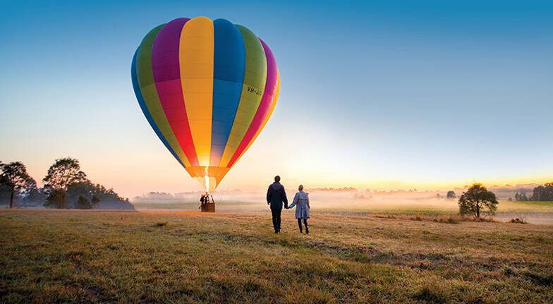 Hot air Balloon Hunter Valley Valentines Ideas Melbourne