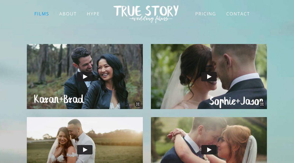 True Story wedding Videographer Yarra Valley
