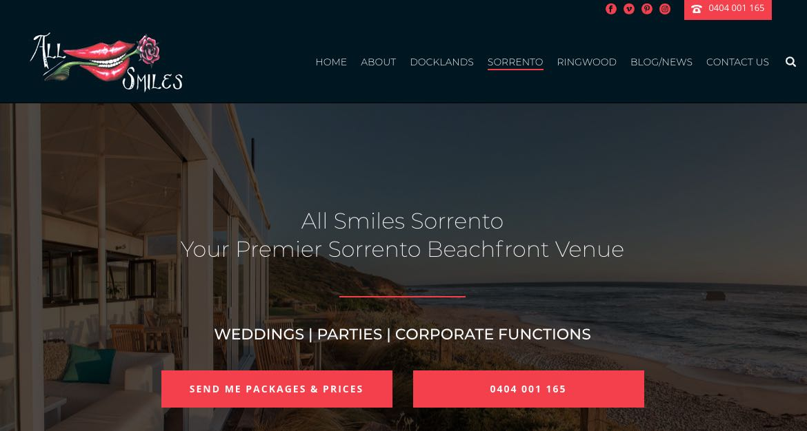 All Smiles Sorrento Accommodation and Hotel Burwood Melbourne