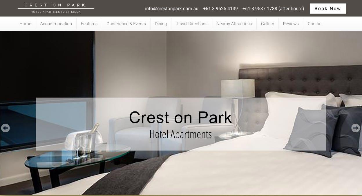 Crest on Park Hotel and Accommodation Burwood, Melbourne