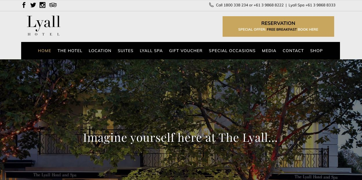 The Lyall Hotel and Spa Accommodation and Hotel Burwood, Melbourne
