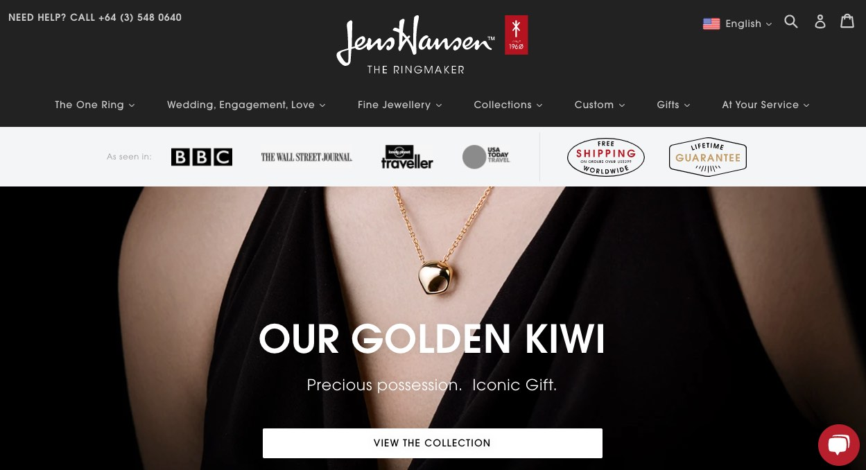 Jens Hansen Wedding and Engagment Rings New Zealand
