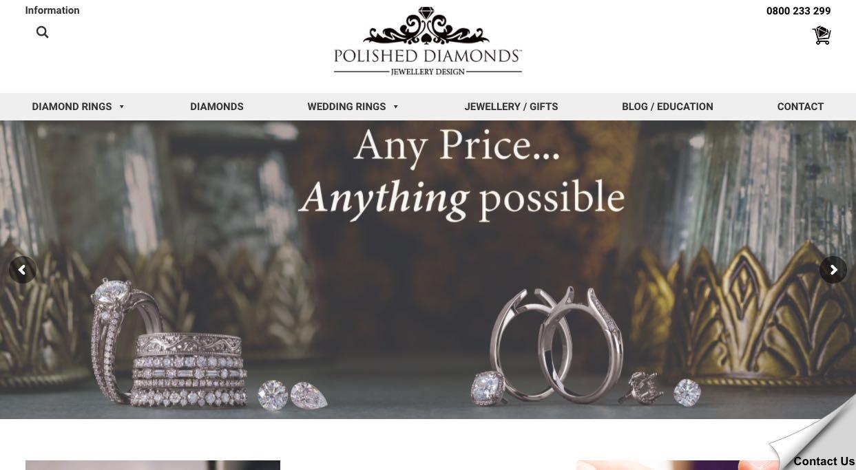 Polished Diamonds Wedding and Engagement Rings New Zealand