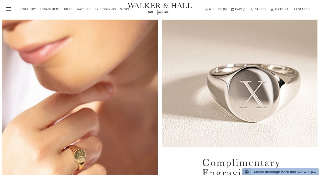 Walker and Hall Wedding and Engagement Rings New Zealand